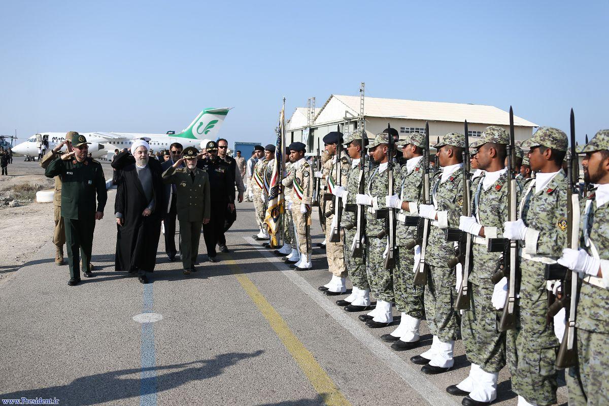 رزمایش نیروی دریایی ارتش با حضور رئیس جمهور