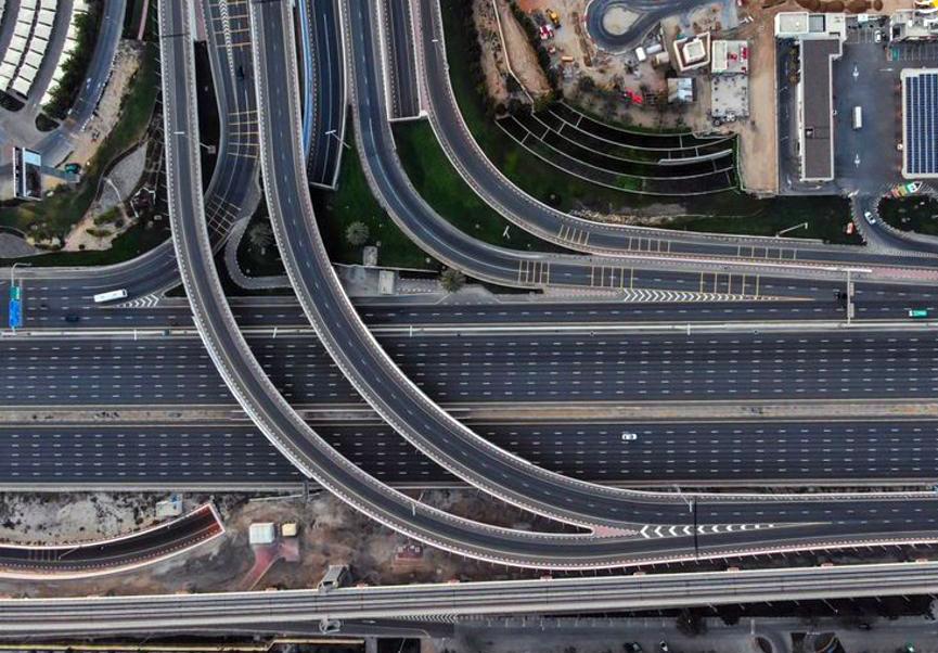 تصاویر هوایی از دبی خالی از جمعیت