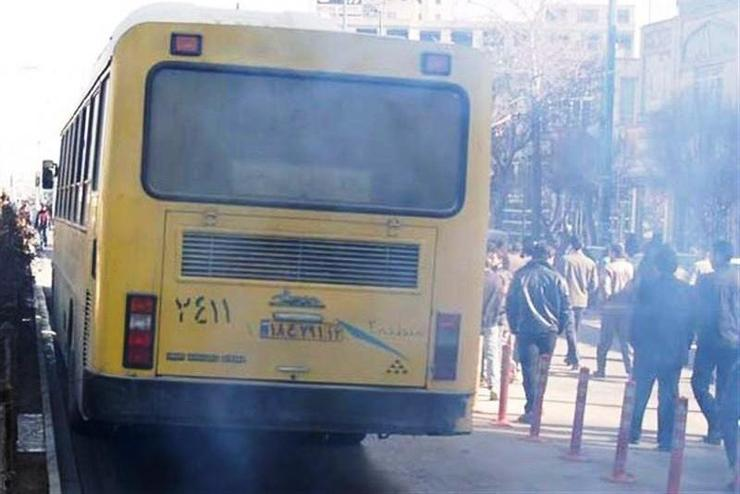 اتوبوس آلوده