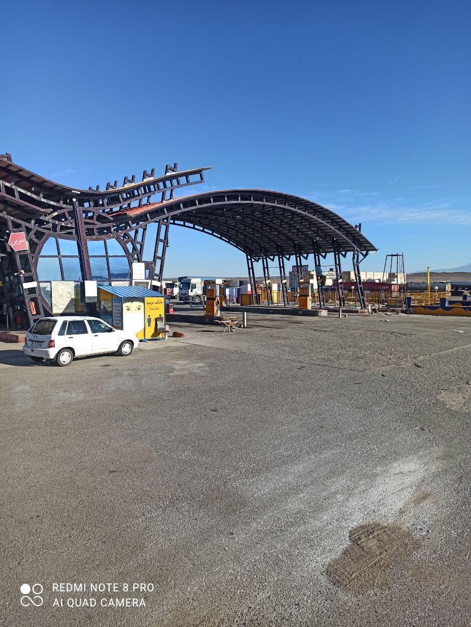 پمپ بنزین سیرجان به سمت شهر بابک