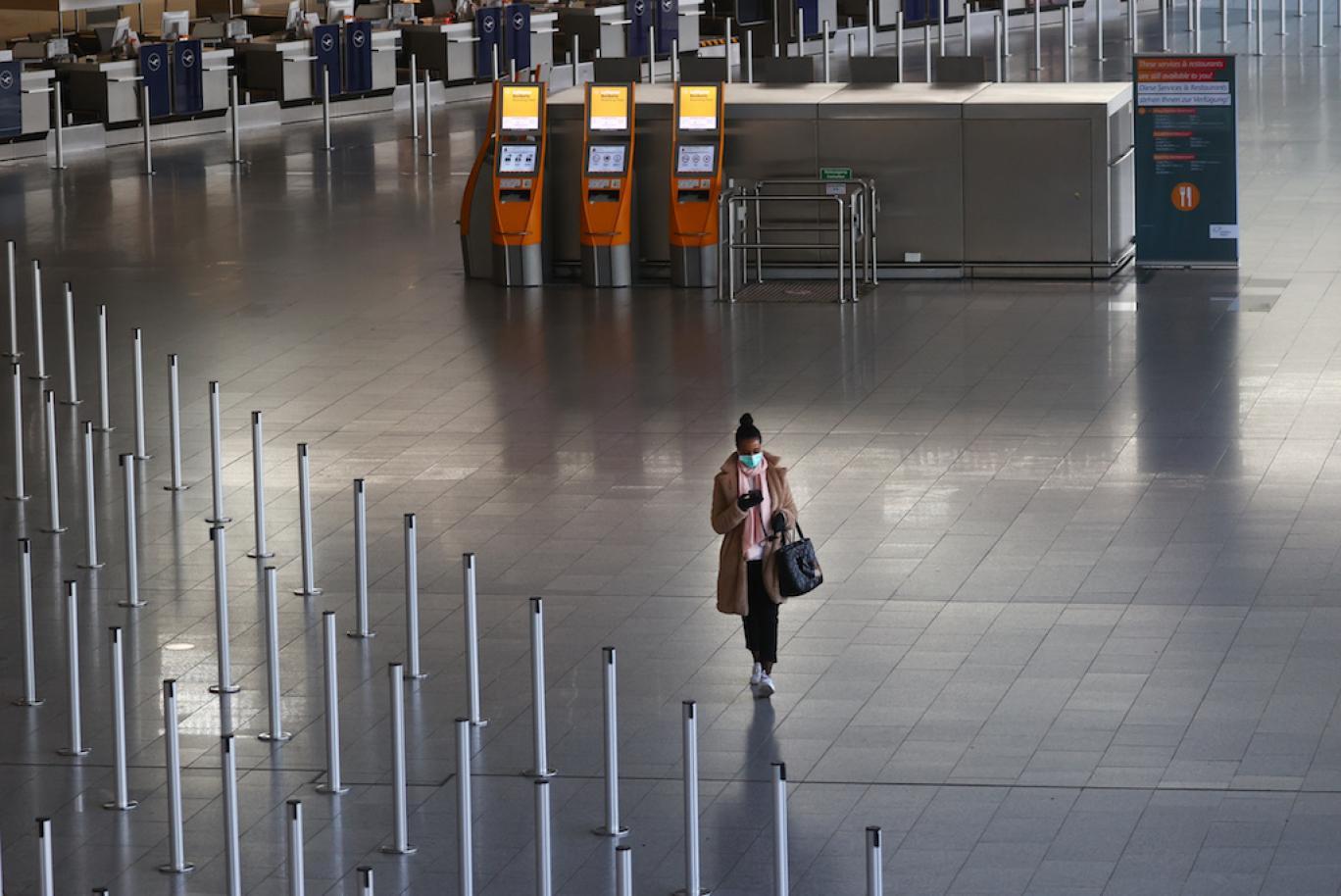 فرودگاه در چین و خالی شدن از مسافر