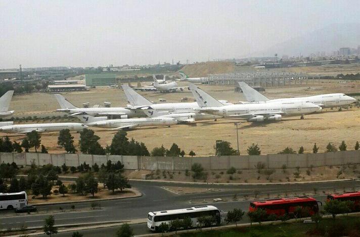 هواپیماهای خارج از رده، رها شده در زمین خاکی «صها»
