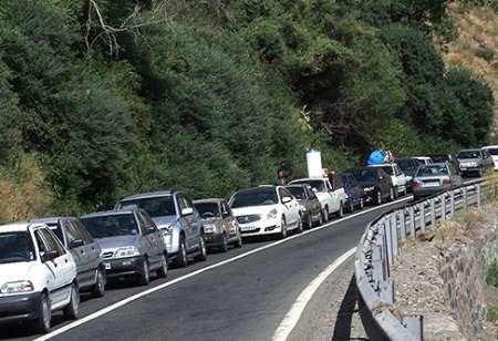 ترافیک در محور کرج - چالوس پرحجم است