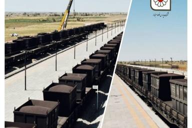 جایگزینی ریل به جای جاده ، جهت حمل مواد اولیه ، توسط شرکت پارس فولاد سبزوار