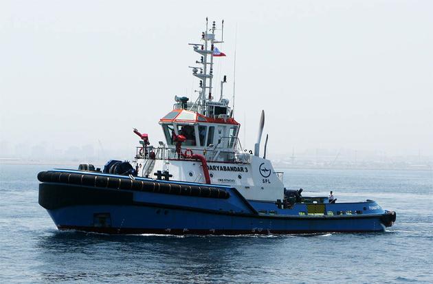 بازگشت یدک کش خلیج فارس۴ به چرخه خدمات دریایی بندر شهید رجایی