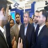 بازدید اسلامی از غرفه شرکت فرودگاهها در نمایشگاه حملونقل