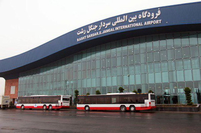 پروازهای فرودگاه رشت با وجود بارش شدید باران در جریان است