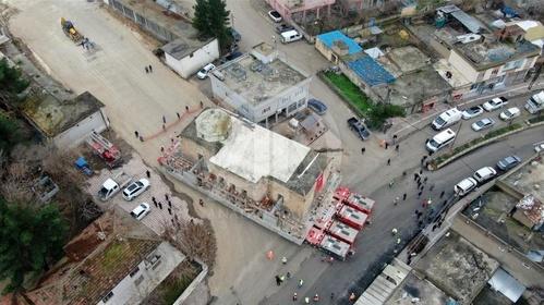 جابجا کردن مسجد در ترکیه