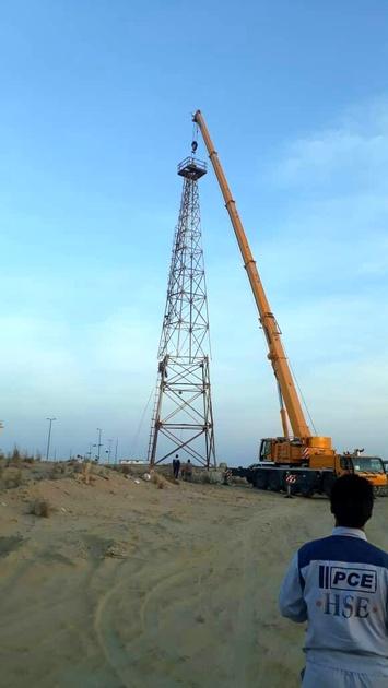 آغاز بهره برداری از فانوس دریایی جدید در بندر شهید بهشتی چابهار