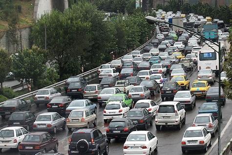ترافیک سنگین در محورهای ورودی مشهد