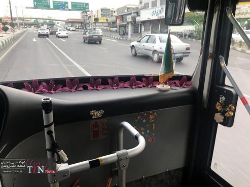 (عکس) راننده بی.آر.تی خوشسلیقه