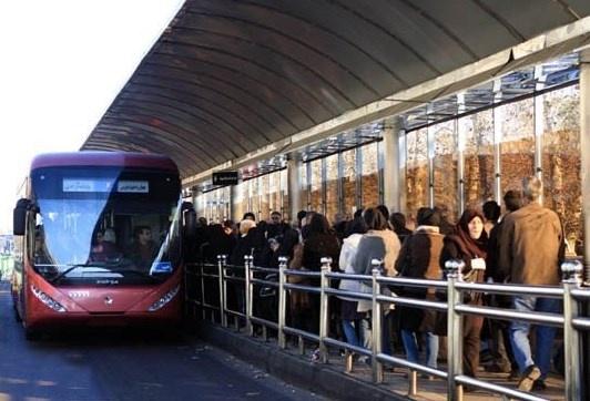 هر 30ثانیه حرکت یک اتوبوس در سامانه خط یک بیآرتی