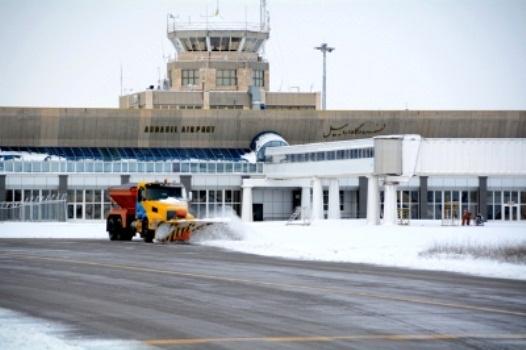 لغو دو پرواز فرودگاه اردبیل به دلیل بارش برف