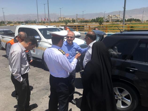 بازدید رئیس سازمان راهداری از پروژه تعریض محور سبزوار-ششتمد