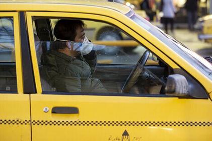 تصویر   رعایت کرونا در تاکسی تهران