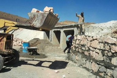 عملیات اجرایی پل قالهر استان مرکزی انجام شد