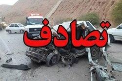 مرگ راننده نیسان در برخورد با یک دستگاه تریلی