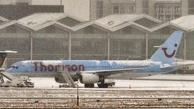 (فیلم) بارش برف فرودگاه بروکسل را تعطیل کرد