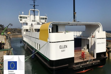All-electric ferry completed maiden voyage in Denmark