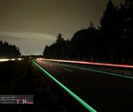 Glow - in - the - dark highway opens in Netherlands