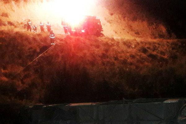 11 جسد تصادف جاجرود به پزشکی قانونی تحویل شد