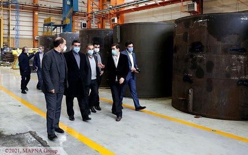 بازدید معاون وزیر صنعت از کارخانجات گروه مپنا