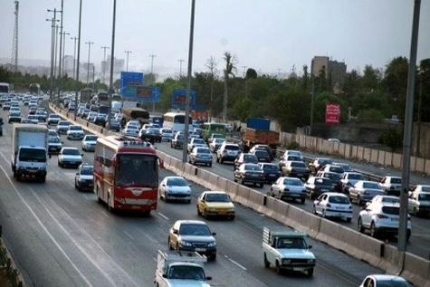 ترافیک بسیار سنگین محورهای ورودی مشهد