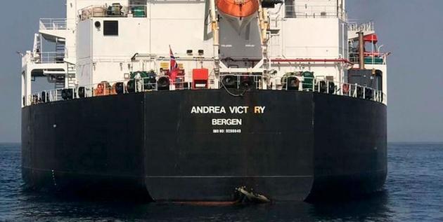 یکی از 4 نفتکشی که در انفجارهای بندر فجیره آسیب دید در راه ایران است