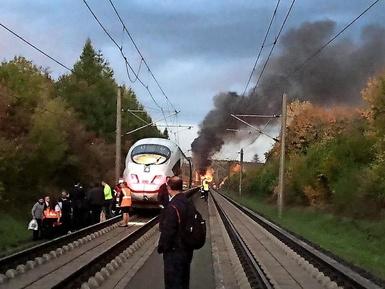 آتش سوزی قطار در آلمان
