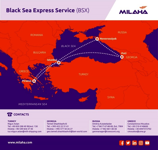 Milaha launches new Black Sea Express Service as the first service in Europe