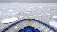 Russian freighter gets stuck in Arctic ice