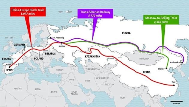 (تصاویر) طولانیترین خط آهن جهان