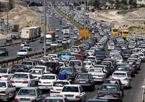 ترافیک نیمهسنگین در آزادراه قزوین_کرج