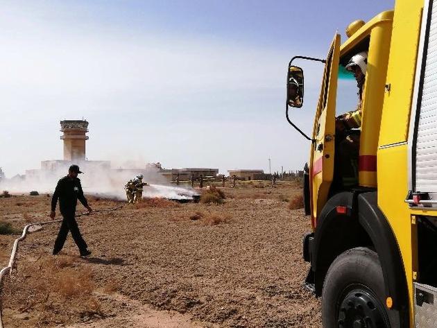 اجرای مانور طرح اضطراری کامل در فرودگاه زابل