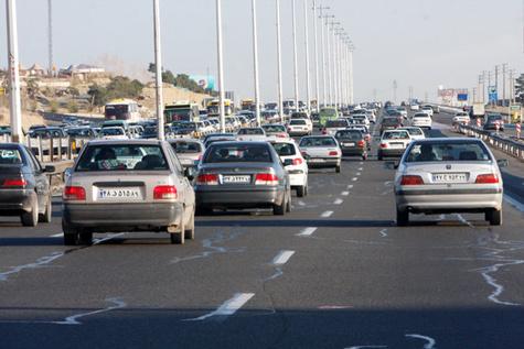 جدول وضعیت ترافیک لحظهای راههای اصلی و فرعی استان تهران - 3