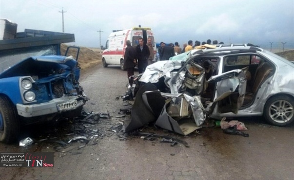 تصادفات جادهای در استان لرستان ۱۵ درصد کاهش یافت