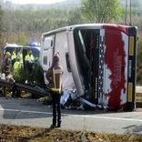 واژگونی اتوبوس در آلمان 40 زخمی بر جای گذاشت