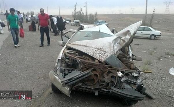 ۴ کشته در برخورد سه دستگاه خودرو سبک و سنگین