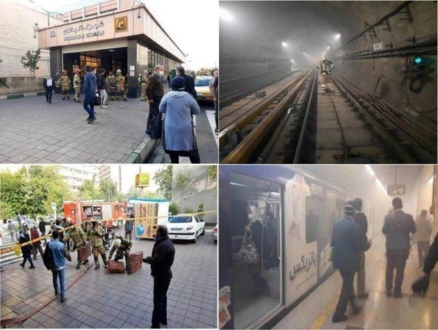 تعطیلی ۳ ایستگاه در خط ۴ مترو به دلیل بروز حادثه