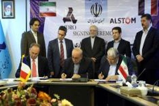 امضاء توافقنامه های ریلی بین ایران و فرانسه