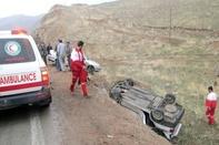 واژگونی خودرو در قزوین 2 کشته و 2 مجروح بر جای گذاشت