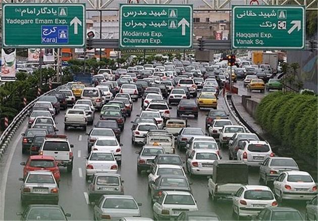 پیش بینی میشود ترافیک تهران فردا صبح افزایش یابد