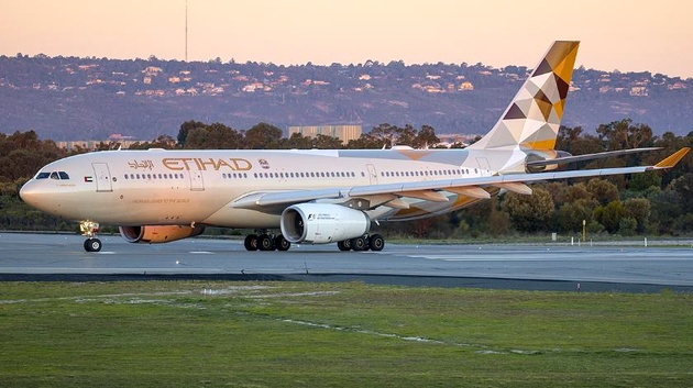Etihad Airways Airbus A330 Engine Shuts Down in Flight