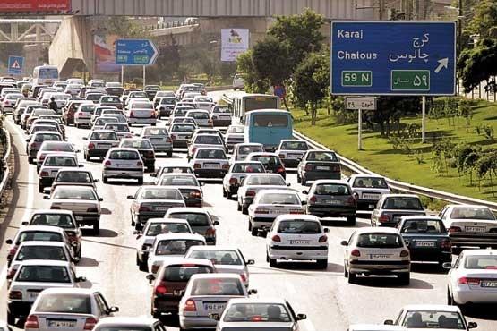 تردد وسایل نقلیه از مسیر جنوب به شمال محور چالوس ممنوع شد