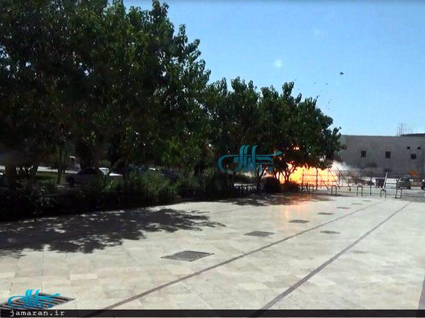 گزارش تصویری/ تیراندازی در ضلع غربی محوطه بیرون از حرم امام خمینی