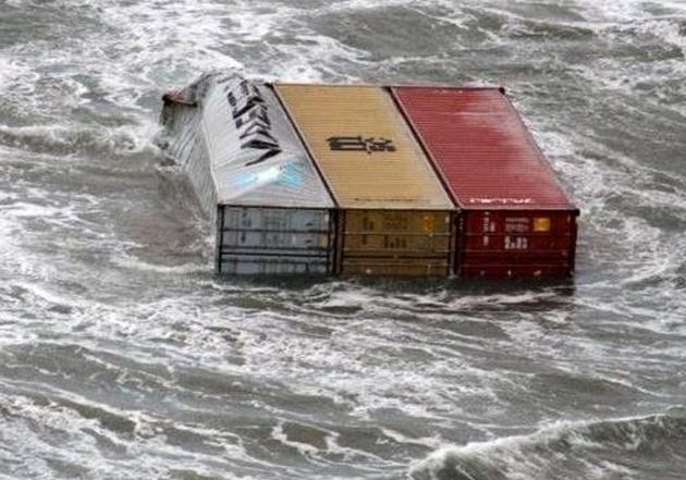 سقوط کانتینرهای حاوی مواد شیمیایی خطرناک به آبهای هلند