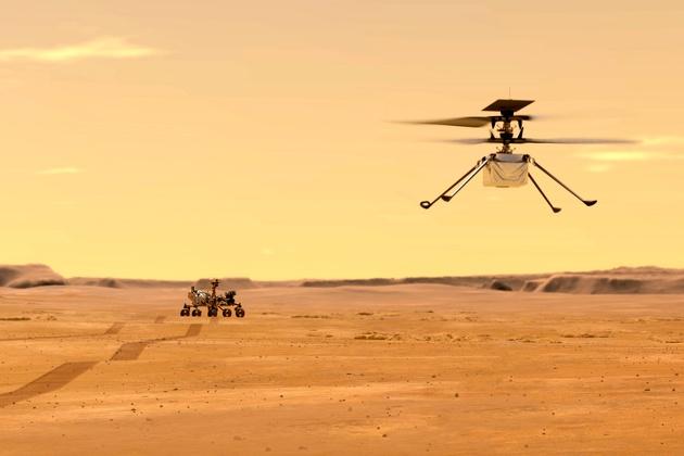 صدای پرواز هلیکوپتر مریخی ناسا منتشر شد