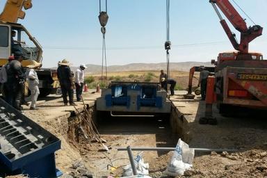 نصب چهار سامانه توزین در حین حرکت خودروهای باری در زنجان
