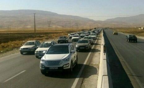 ترافیک در اتوبان زنجان - قزوین و زنجان - تبریز