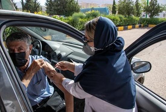 واکسیناسیون خودرویی در شیراز